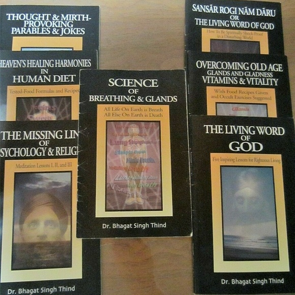 7 BOOKS BY DR  BHAGAT SINGH THIND, HEALTH & MORE